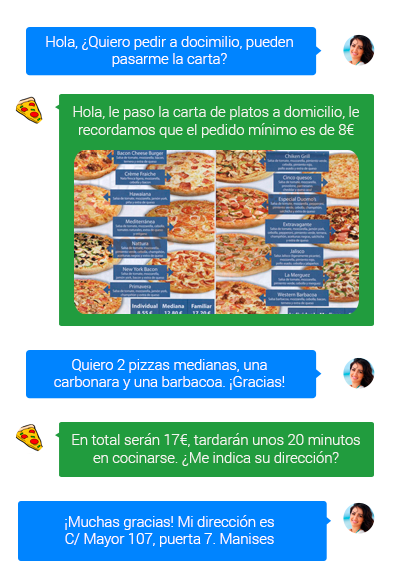 Facebook Messenger para restaurantes